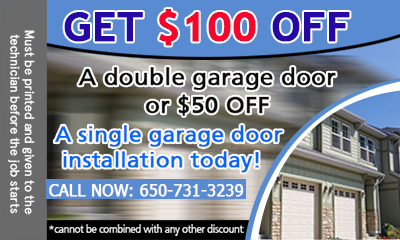 Garage Door Repair Burlingame coupon - download now!